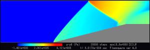 圧力分布 (p-pres0)