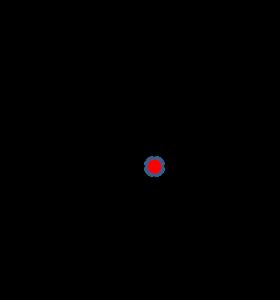 2次元領域上に配置したデカルト格子の拡大図