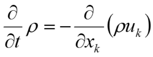 質量保存の式