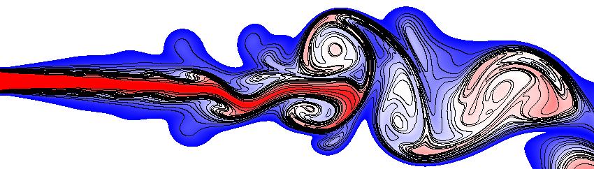 A jet flow.